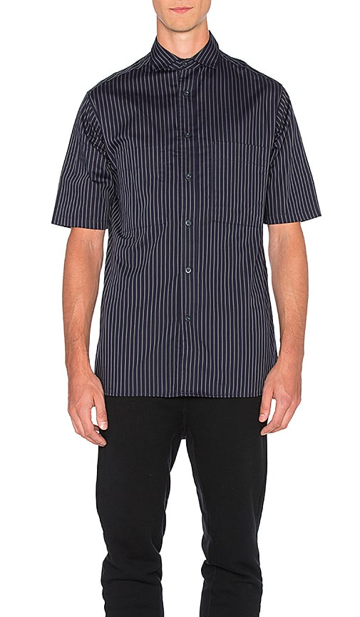 Wil Fry Short Sleeve Utility Shirt in Navy