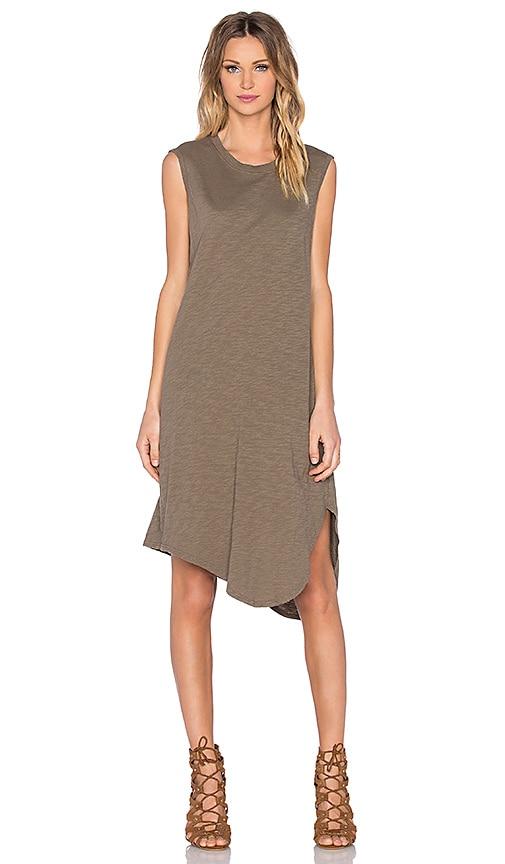 Slub Shirttail Twist Dress