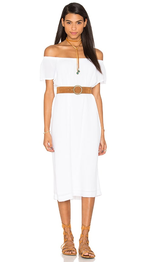 Wilt Off The Shoulder Peasant Dress in White