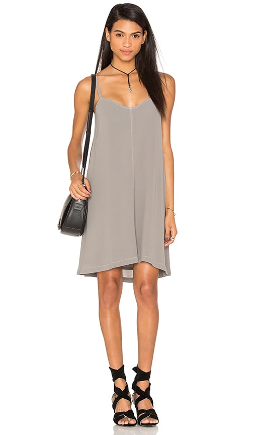 Wilt Trapeze Tank Dress in Gray