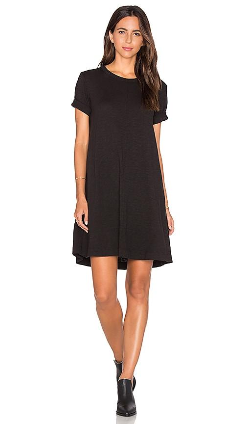 Wilt Trapeze Tee Dress in Black