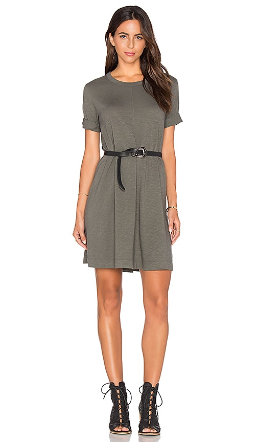 Wilt Trapeze Tee Dress in Gray