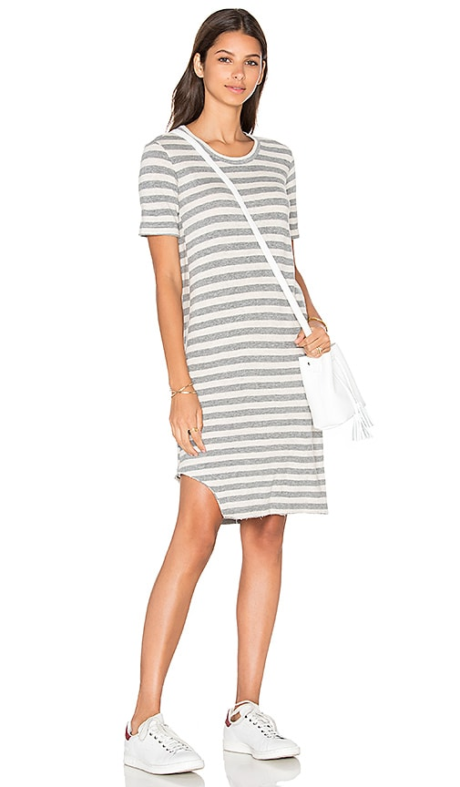 Baby Cashmere T Notch Hem Elbow Sleeve Dress