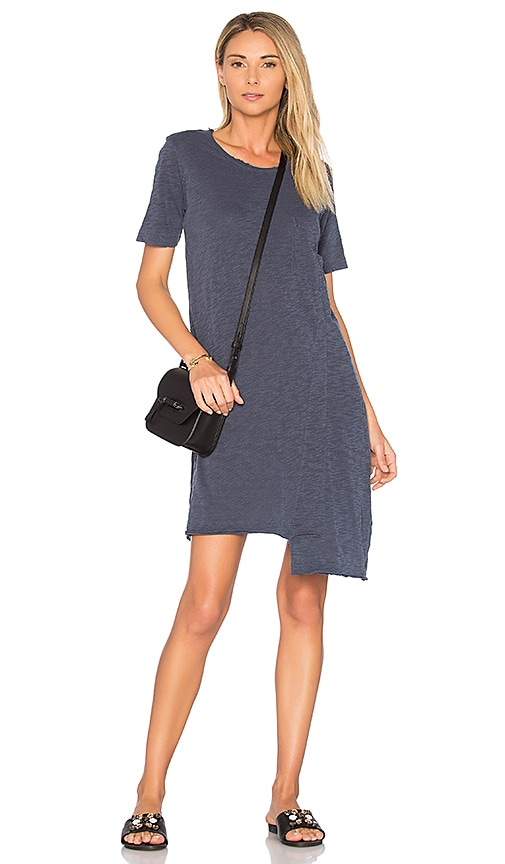 Wilt Shifted Pocket Tee Dress in Navy