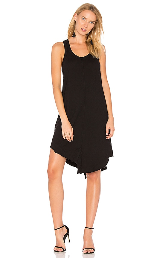 Wilt Shifted Shirttail Tank Dress in Black