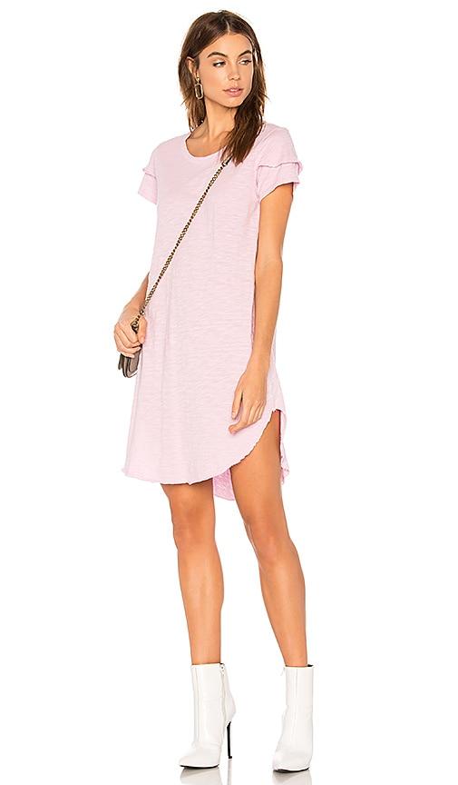 Wilt Ruffle Tee Dress in Pink