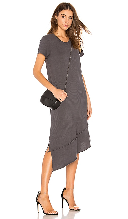 Wilt Slant Tee Dress in Gray
