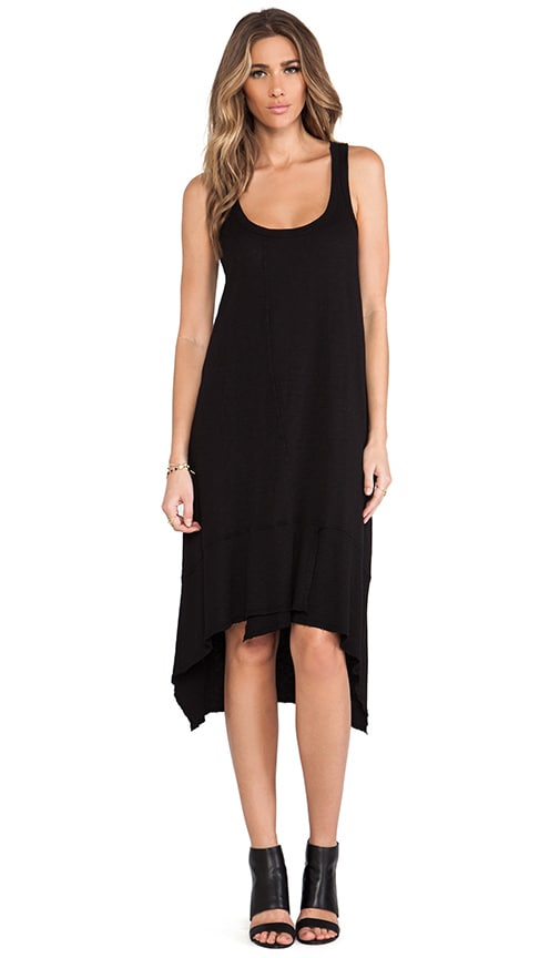 Slub Jersey Twisted Tank Dress