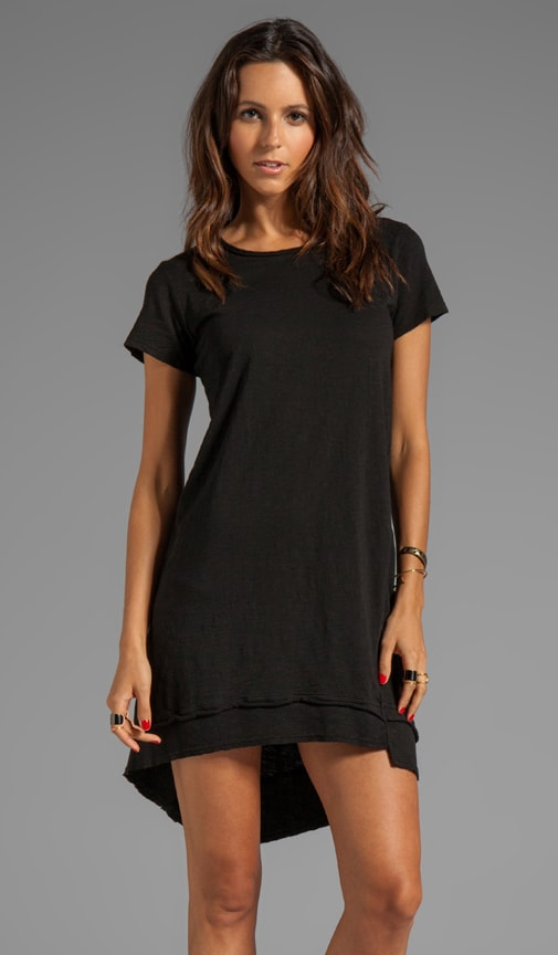 Slub Jersey Raw Mixed T-Shirt Dress
