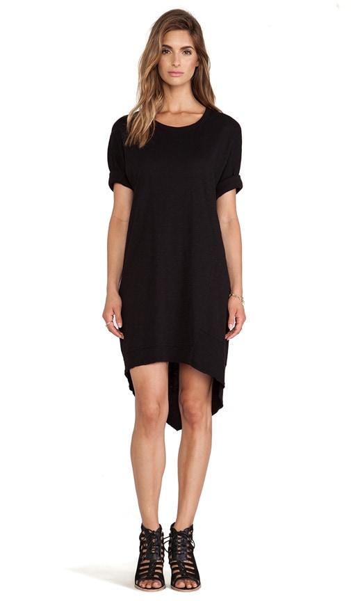 Slub Dolman Backslant Dress