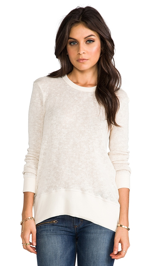 Long Sleeve Clean Hi Lo Sweater