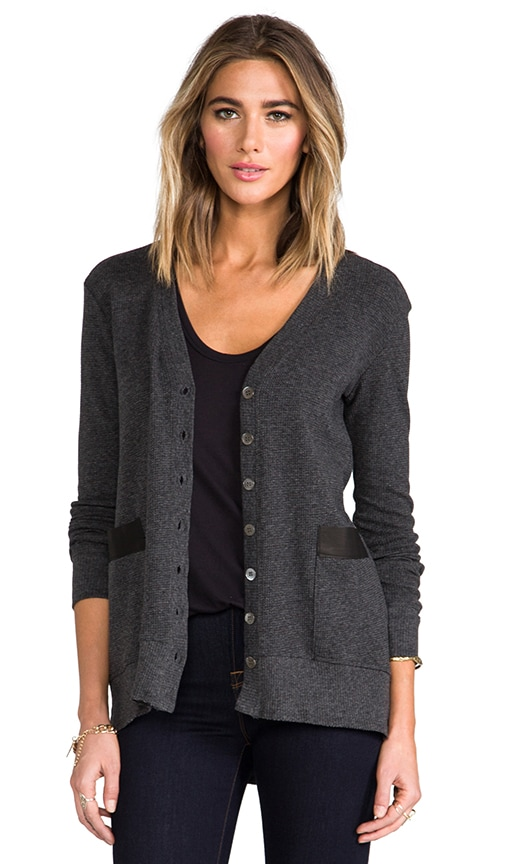 Leather Mix Cardi