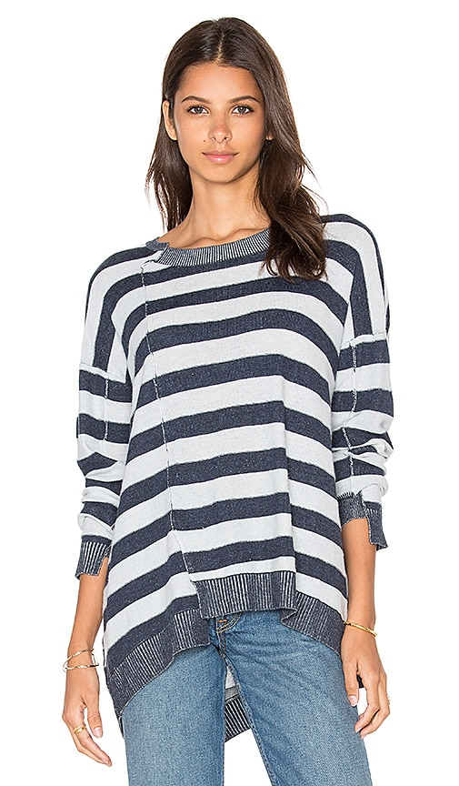 Wilt Slouchy Shifted Stripe Sweater in Blue