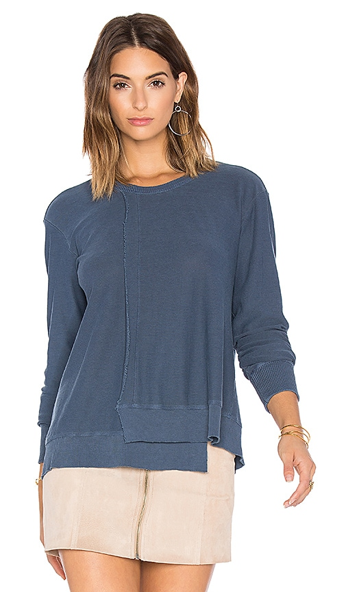 Wilt Seamed Long Sleeve Sweatshirt in Blue