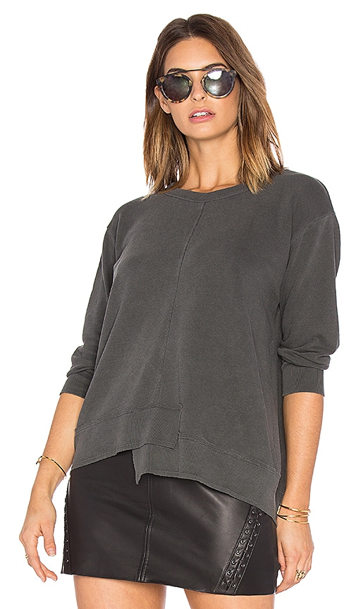 Wilt Shrunken Shifted Sweatshirt in Charcoal