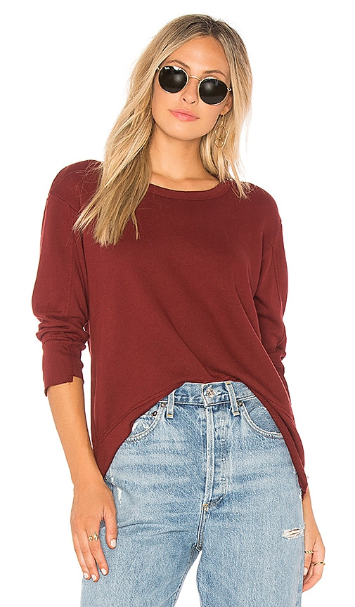 Wilt Shifted Sleeve Sweatshirt in Red