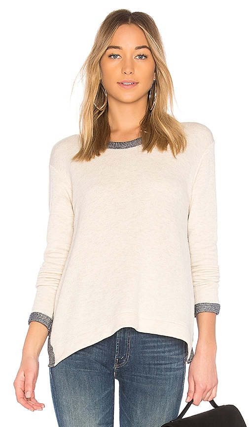 Wilt Boxy Ringer Sweatshirt in White