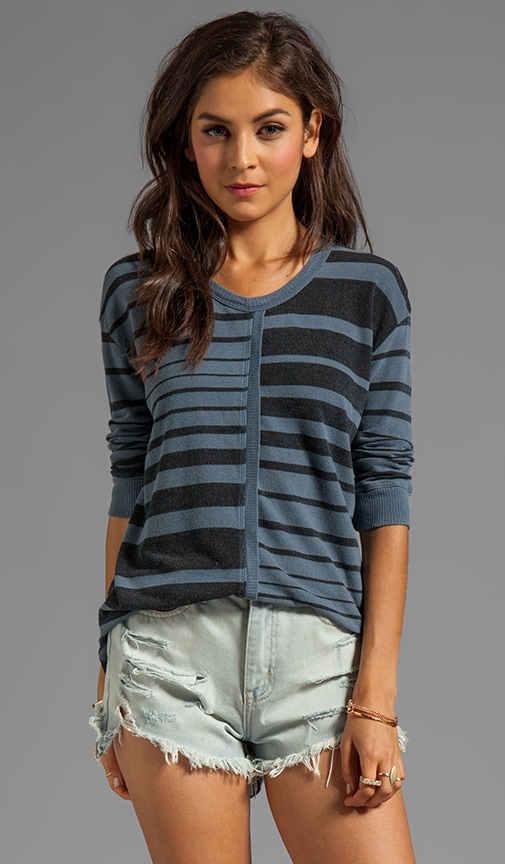 Fractured Stripe Shrunken Sweatshirt