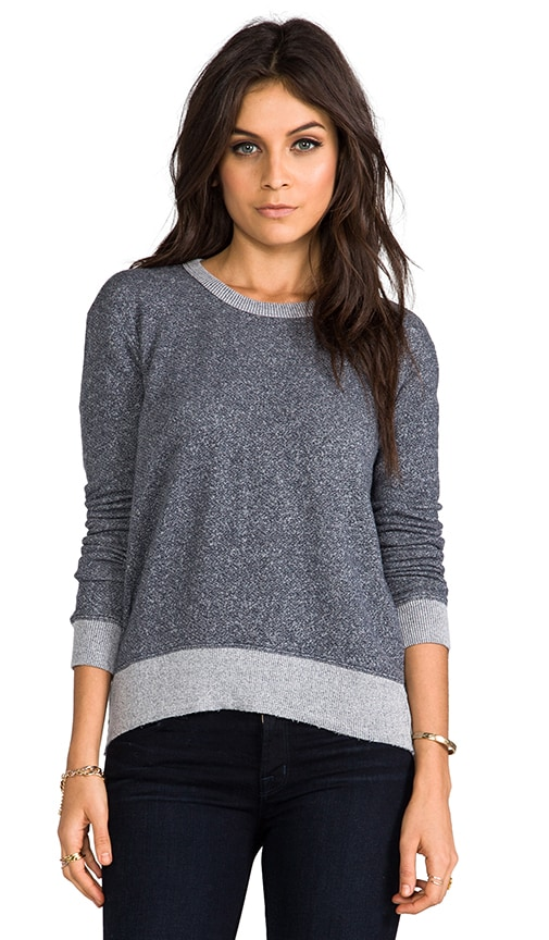 French Terry Shrunken Hi/Lo Sweatshirt