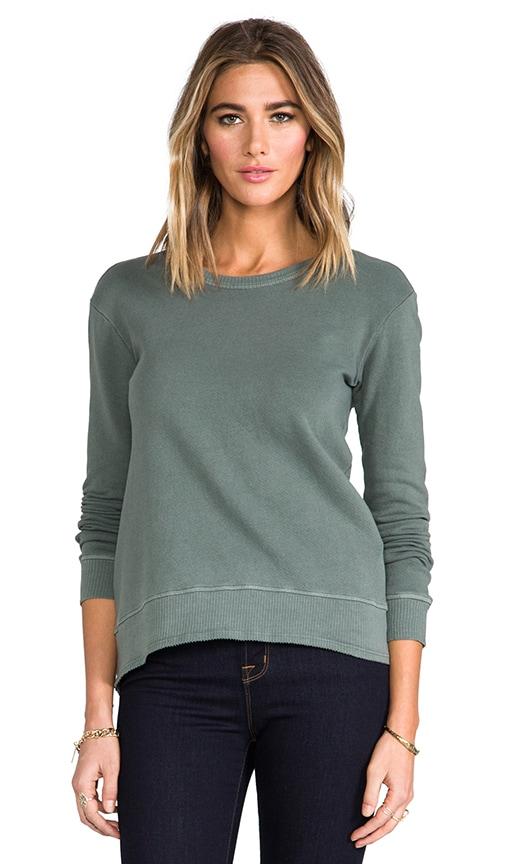 French Terry Shrunken Hi/Lo Sweatshirt