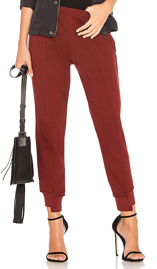 Wilt Crop Shifted Jogger Pant in Red