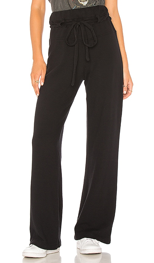 Wilt Drawstring Wide Leg Pant in Black