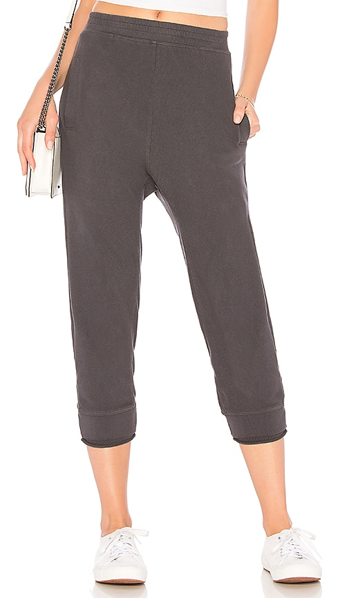 Wilt Rolled Rib Sweatpant in Charcoal