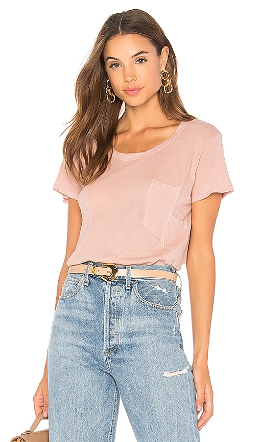 Wilt Darted Pocket Tee in Blush