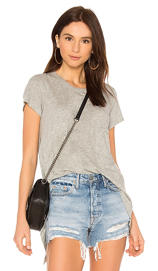 Wilt Slouchy Crew Pocket Tee in Gray