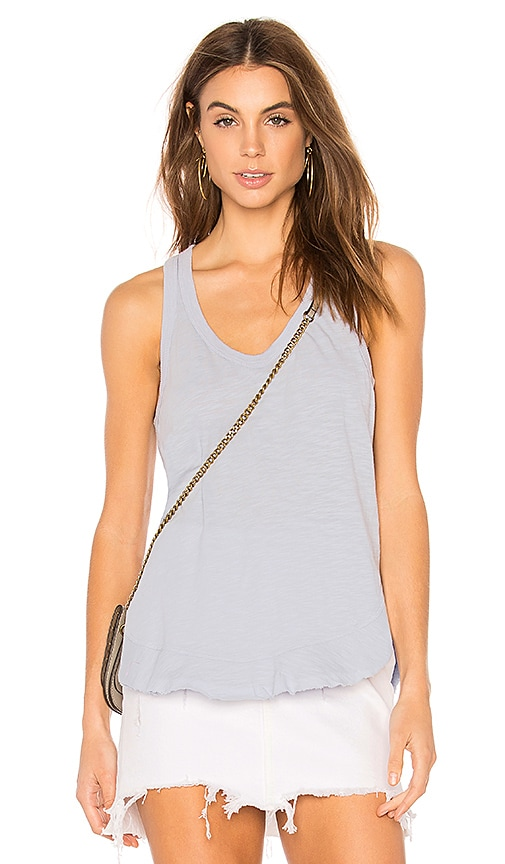 Ruffle Shirttail Tank