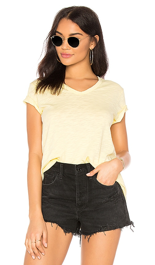 Wilt Shrunken Boyfriend Tee in Yellow
