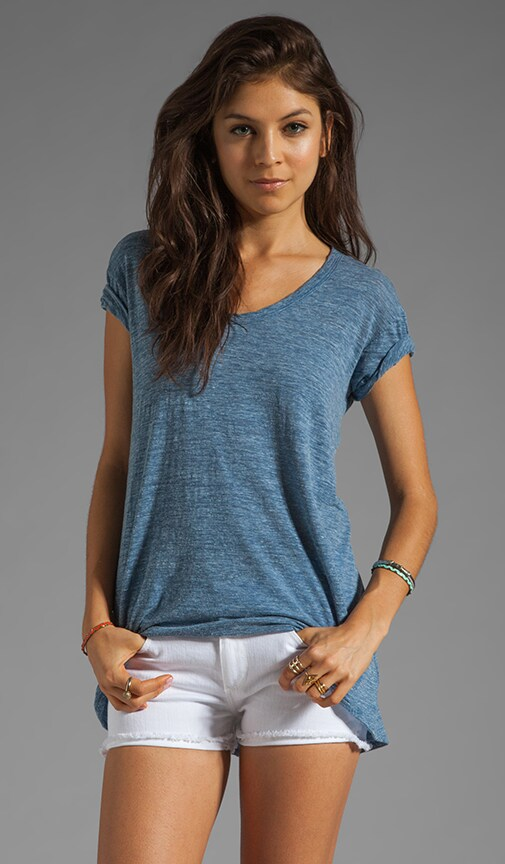 Heather Jersey Slouchy Boyfriend Tee