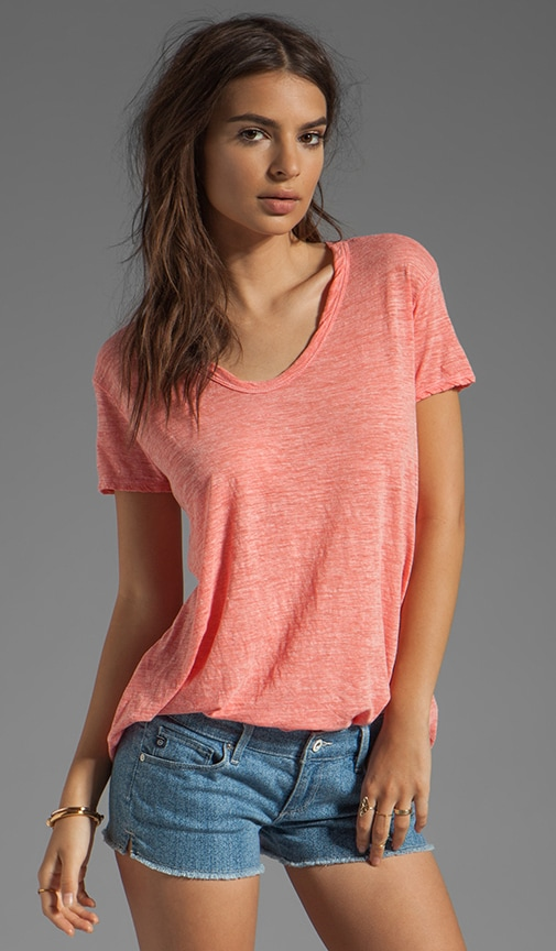 Heather Jersey Slouchy BF Tee