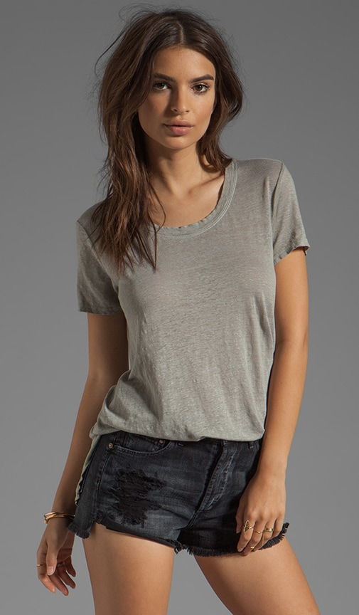 Linen Jersey Slouchy Crew