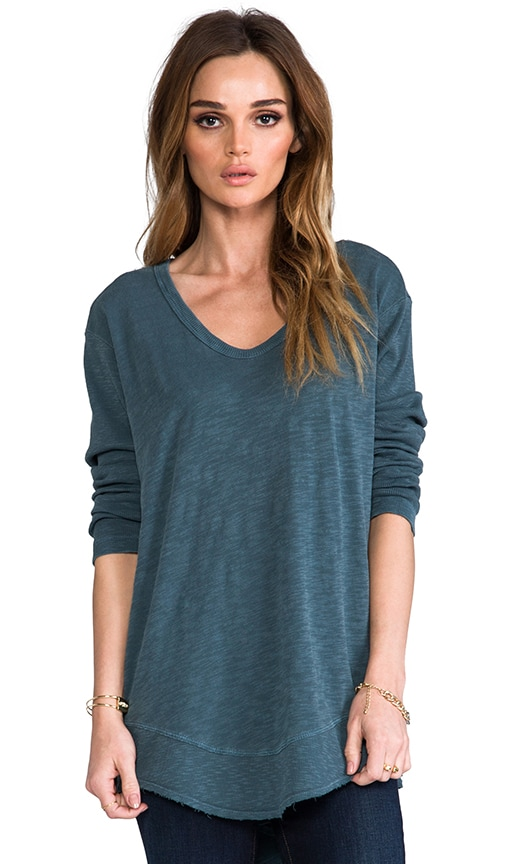Slub Long Sleeve Slouchy Tunic