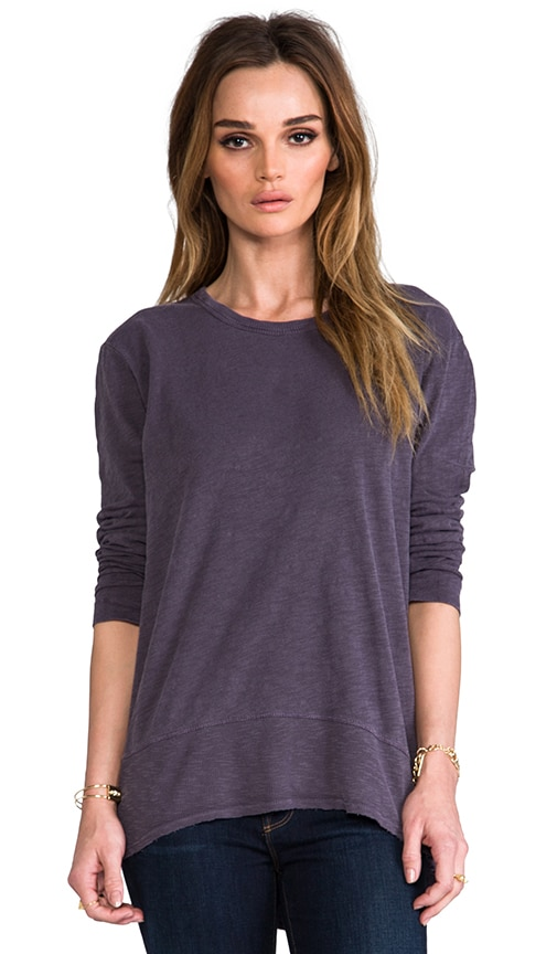 Slub Long Sleeve Hi Lo Top