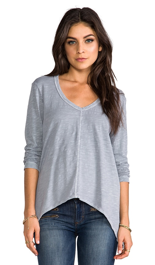 Slouchy Long Sleeve Gusset Tee