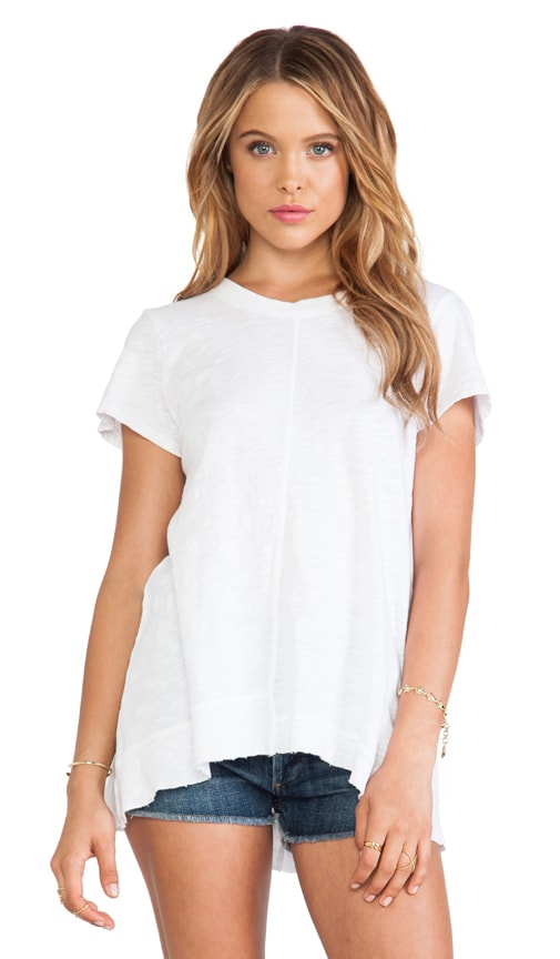 Slub Backless Boxy Tee