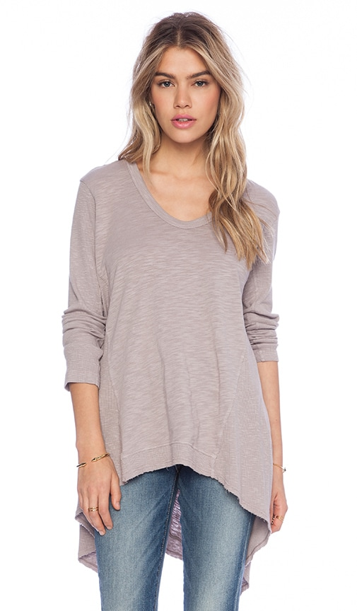 Slub Mixed Panel Tunic