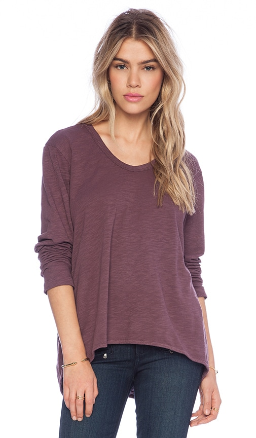 Slub Basic Long Sleeve Slouchy Boyfriend