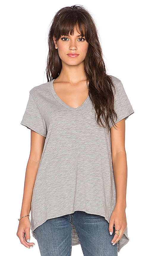 Wilt Shrunken Boyfriend Tee in Grey Heather