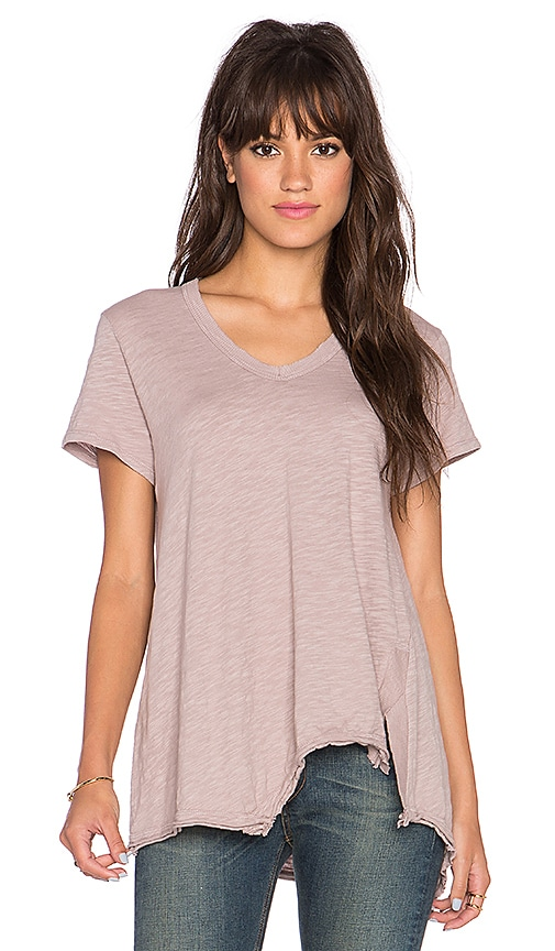 Shrunken Shifted Deep V Tee