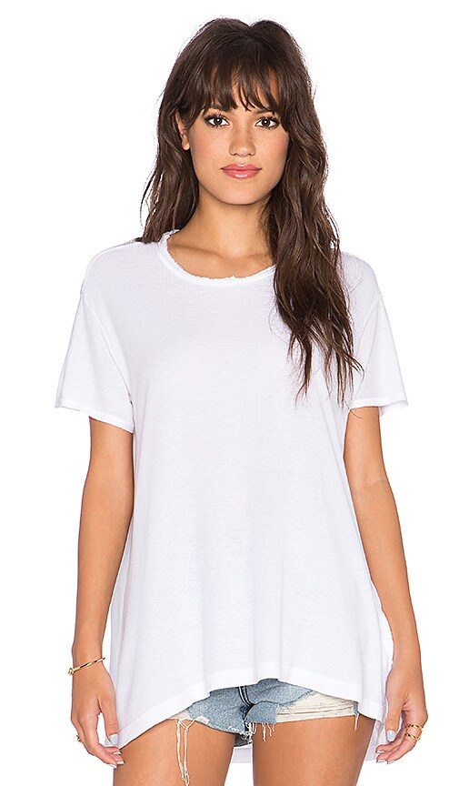 Wilt Crew Baby Mixed Tee in White