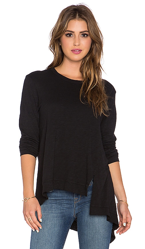 Wilt Extreme Slant Long Sleeve Tee in Black
