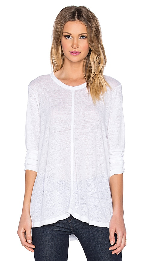 Wilt Lux Slub Tapeze Long Sleeve Tee in White
