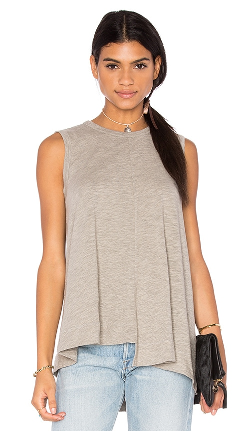 Wilt Slub Shifted Trapeze Tank in Gray