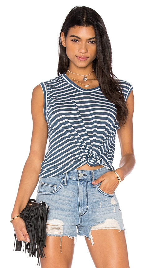 Wilt Shadow Stripe Muscle Tank in Blue