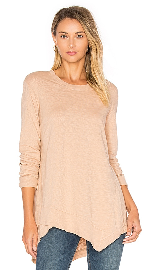 Wilt Slub Easy Crew Top in Blush
