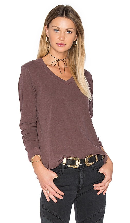 Wilt Unfinished Easy Tee in Wine