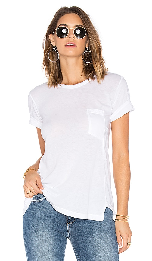 Wilt Darted Pocket Whisper Tee in White